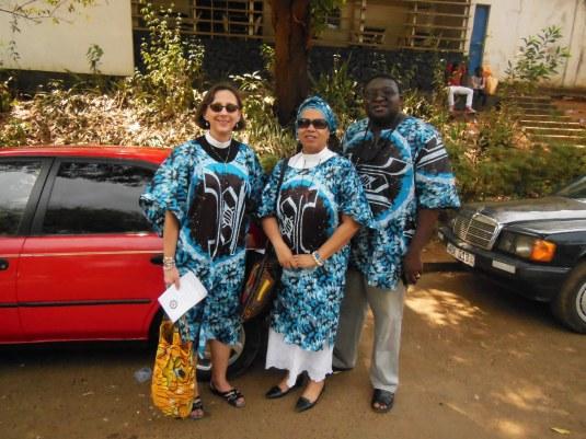 Rev. Kate Warn, me and Rev. Themba Mkhabela