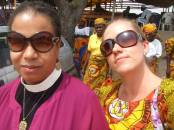 Andrea and Dana in Nigeria